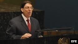 El ministro cubano de Exteriores, Bruno Rodríguez, comparece ante la Asamblea General de la ONU/ Foto de archivo
