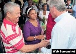 Medios locales reportaron la gira de Miguel Díaz-Canel en La Habana.
