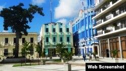 Plaza de los Trabajadores en Camagüey, uno de los lugares donde aparecieron los carteles.
