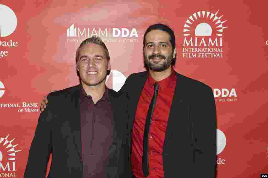Alejandro Bruges Director del filme Juan de los Muertos y Jaie La Plante Director Ejecutivo del Festival Internacional de Cine de Miami Dade College. Fotografía C Cristian Lazzari.