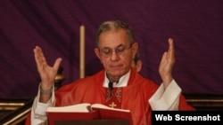 Mons. Juan García, Arzobispo de La Habana. Foto de Facebook de Yoandri Fernández.