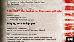 Imagen de la invitación a la exposición Samizdat.