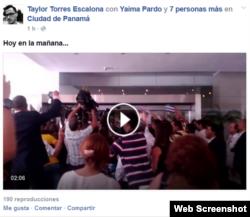 Página de FB de Taylor Torres