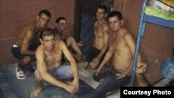 Cubanos detendidos en Nicaragua.