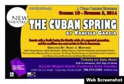 """Cartel promocional de la obra """"La primavera cubana""""."""