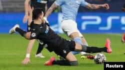 Borussia Moenchengladbach vs. Manchester City. (REUTERS/Bernadett Szabo)