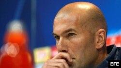El técnico del Real Madrid, Zinedine Zidane.