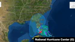 La tormenta tropical Eta se acerca a la Florida. Imagen del Centro Nacional de Huracanes, con sede en Miami.