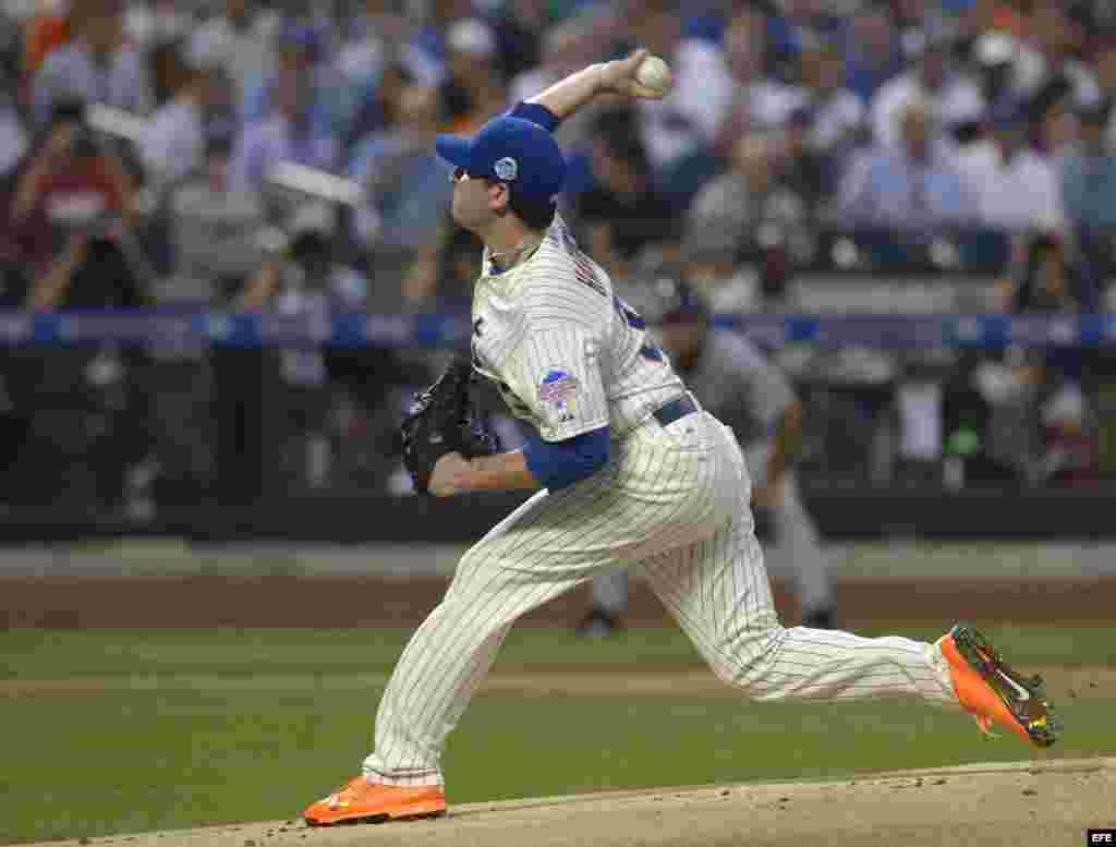 Matt Harvey de los Mets en acción en el Juego de las Estrellas de la MLB en el Citi Field de Flushing, Nueva York (EE.UU.).