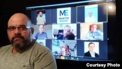 Foto de Comisión Justicia Cuba durante sesión virtual.