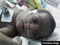 El bebé de Aylín Arjona padece una miocardiopatía severa con peligro para su vida. (Cortesía)