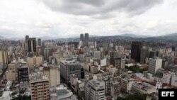 Vista general de la ciudad de Caracas. Foto Archivo.