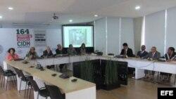 Miembros de la Red de la Cultura Inclusiva Cuba ante la CIDH.