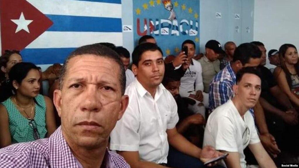 Activistas en la sede nacional de UNPACU antes de salir a la Marcha de los Girasoles, convocada para el 8 de septiembre de 2019. (Twitter).