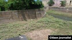 Escasas precipitaciones y la contaminación afectan el río Ariguanabo.