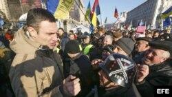 Vitali Klitschko en las protestas de Kiev