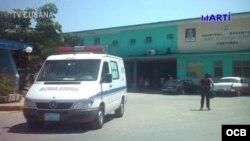 Fachada del hospital de Cárdenas, en la provincia de Matanzas. (Foto de archivo)