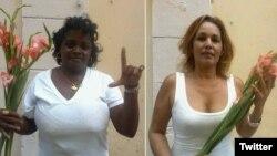 Rosario Morales La Rosa y Leonor Reynó Borges fueron integrantes de las Damas de Blanco (Archivo)
