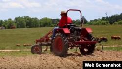 Modelo de tractor Oggún, de la compañía estadounidense Cleber LLC.