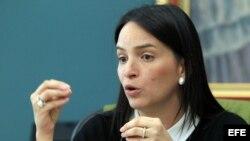 La viceministra de Asuntos Multilaterales y Cooperación de la Cancillería de Panamá, María Luisa Navarro.