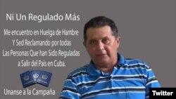 """El activista Guillermo del Sol, uno de los """"regulados"""" por el régimen cubano."""