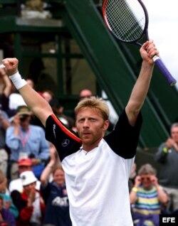 Boris Becker tras ganar Wimbledon, el 22 de junio de 1999.
