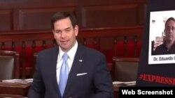 El senador Marco Rubio pide solidaridad con Eduardo Cardet.