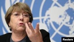 La Comisionada de Derechos Humanos de Naciones Unidas, Michelle Bachelet.