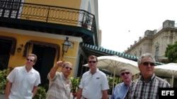 Congresistas demócratas estadounidenses de visita en Cuba. Foto de archivo.