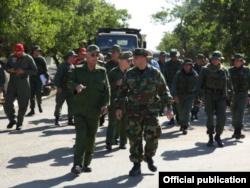 Joaquín Quintas Solá, general de cuerpo de ejército de las FAR viajó junto a otros coficiales cubanos.