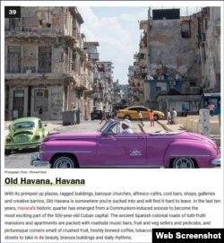 La Habana Vieja ocupa el sitio 39 en la lista de los 50 barrios más cool del mundo. (Captura de imagen/Time Out)