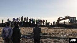 Labores de rescate del accidente de Ethiopian Airlines.