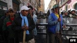 Indígenas bolivianos protestan en La Paz