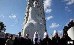 El patriarca de la Iglesia Ortodoxa Rusa, Kirill, en la Plaza de la Revolución de La Habana.