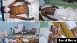 Imágenes de los huelguistas de hambre de la UNPACU en Altamira, ciudad de Santiago de Cuba.