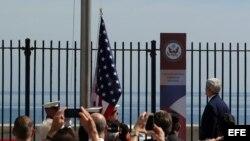 Activistas en arresto domiciliario por visita del secretario de Estado John Kerry para la ceremonia de reapertura de la Embajada de EEUU