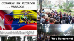 En Ecuador, cubanos presionan por plan que les permita llegar a Estados Unidos.