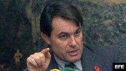El entonces Conseller de Economia de la Generalitat,Artur Mas,en 1999.