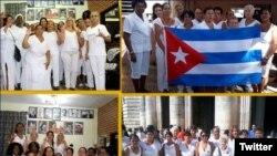 Damas de Blanco se manifiestan este domingo, 8 de marzo, en el Día Internacional de la Mujer. (Foto: @jangelmoya)