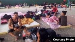 Uno de los albergues preparados por el gobierno de Costa Rica para los inmigrantes cubanos.