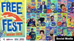 Poster del Free Cuba Fest.