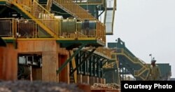 Vista del complejo de producción de etanol y azúcar Biocom, emprendido por Odebrecht en Angola