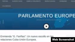 Así aparecía la noticia en el blog del Parlamento Europeo.