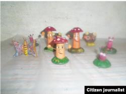 Reporta Cuba. Piezas de artesanía.