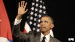 El presidente Barack Obama ofrece un discurso al pueblo cubano en La Habana.