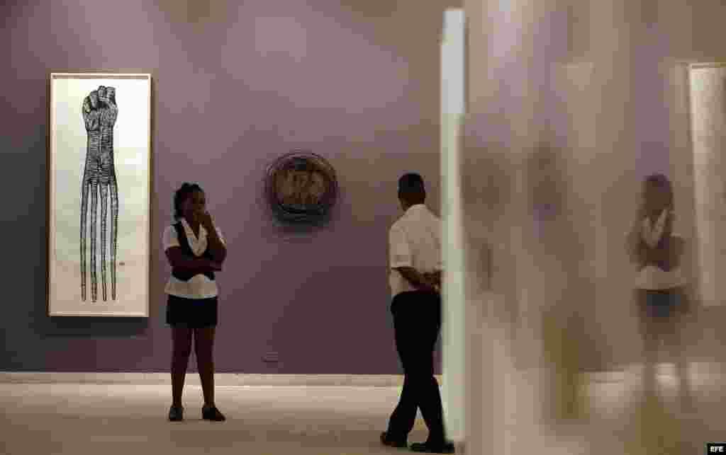 """La exposición """"Ruido Salvaje"""" en el Museo de Bellas Artes de La Habana (Cuba). Mayo de 2015."""