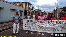 Archivo Marchan activistas UNPACU 15 de noviembre Palma Soriano