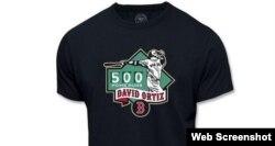 Camiseta por los 500 jonrones del Big Papi.