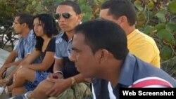 """Integrantes del grupo de video independiente """"Palenque Visión"""", en Guantánamo."""