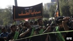 Peregrinos chiíes participan en la celebración de la festividad chií de Al Arbain, en Irak. Archivo.